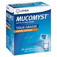 MUCOMYST 200 mg Poudre pour solution buvable en sachet B/18 à Moirans