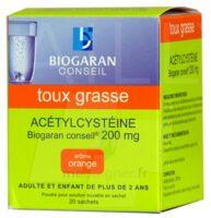 ACETYLCYSTEINE BIOGARAN CONSEIL 200 mg Pdr sol buv en sachet B/20 à Moirans