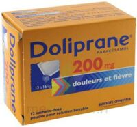 Doliprane 200 Mg Poudre Pour Solution Buvable En Sachet-dose B/12 à Moirans