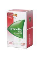Nicorette 2 Mg Gomme à Mâcher Médicamenteuse Sans Sucre Fruits Plq/105 à Moirans