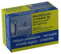 MAGNESIUM/VITAMINE B6 BIOGARAN CONSEIL 48 mg/5 mg, comprimé pelliculé à Moirans