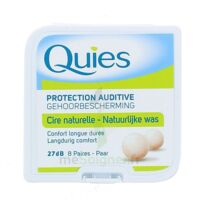 QUIES PROTECTION AUDITIVE CIRE NATURELLE 8 PAIRES à Moirans