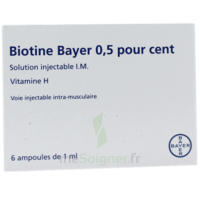 BIOTINE BAYER 0,5 POUR CENT, solution injectable I.M. à Moirans