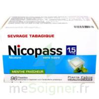 Nicopass 1,5 Mg Pastille Sans Sucre Menthe Fraîcheur Plq/96 à Moirans