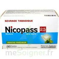 Nicopass 2,5 Mg Pastille Menthe Fraîcheur Sans Sucre Plq/96 à Moirans