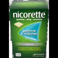 NICORETTE 2 mg Gom à mâcher médic sans sucre menthe fraîche Plq/105gom à Moirans