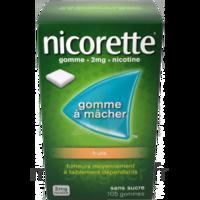 Nicorette 2 mg Gomme à mâcher médicamenteuse sans sucre fruits Plq/30 à Moirans