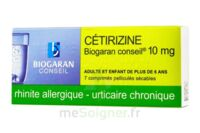 CETIRIZINE BIOGARAN CONSEIL 10 mg, comprimé pelliculé sécable à Moirans