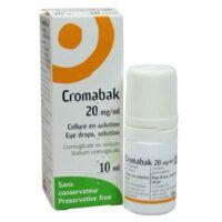 Cromabak 20 Mg/ml, Collyre En Solution à Moirans