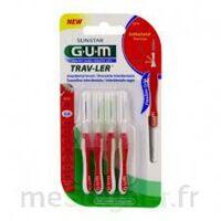 Gum Trav - Ler, 0,8 Mm, Manche Rouge , Blister 4 à Moirans