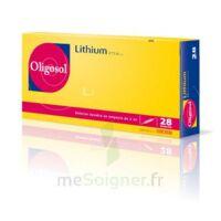Oligosol Lithium Solution buvable en ampoule ou en récipient unidose 28Amp/2ml à Moirans
