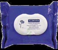 Klorane Soins des Yeux au Bleuet Lingette démaquillante biodégradable Pack/25 à Moirans